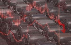 mercato auto in calo