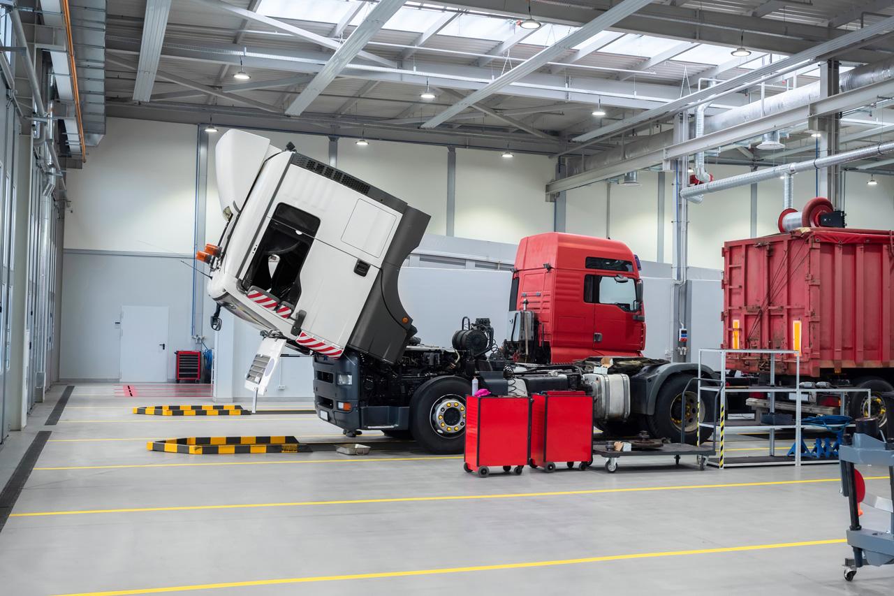 camion in riparazione - gestione del guasto